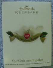 NIB 2012 HALLMARK CHRISTMAS TREE KEEPSAKE ORNAMENT OUR CHRISTMAS TOGETHER DOVES