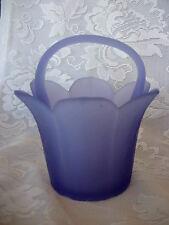 Beautiful Collectible Purple/Lavender Satin Art Glass Tulip Shaped Basket