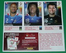 PANINI FOOTBALL EURO 2008 EXTRA STICKERS FRANCE BOUMSONG GOMIS FREY