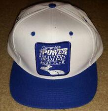 Vintage CUMMINS POWER MASTERS ROAD CLUB White Snapback Truckers Hat Cap baseball
