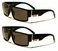 LOCS SQUARE MARIJUANA WEED LEAF SUNGLASSES RETRO BLACK GREEN RAPPER HIP HOP VTG