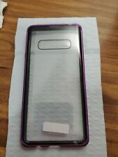 Galaxy note tempered glass magnetic case purple protector usa seller