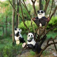 Cute Large Hanging Garden Ornament Craft Panda Resin Tree Statue Home Decor