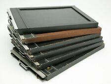 "Vintage Set Of Six Kodak & Graflex 5x7"" Wooden Cut Film Holders. Made In USA."