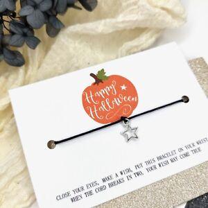 Happy Halloween wish bracelet trick or treat goodie bag sweet substitute gift