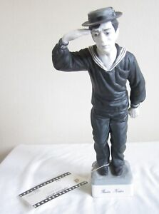 VINTAGE BUSTER KEATON FIGURINE FIGURE COLLECTIBLE EXPRESSIVE DESIGNS MOVIE ACTOR