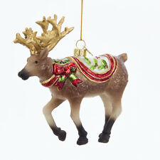 Holiday Reindeer Glass Ornament