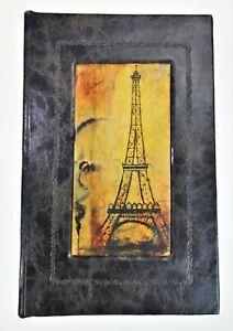 Paris Eiffel Tower Small Book Box Stash Hidden Faux Leather Magnetic Closure