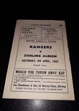 Rangers v Stirling Albion programme 1967