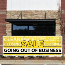 """Business Banner - 3' x 9' """"Going Out of Business"""" Vinyl Banner, with Grommets"""