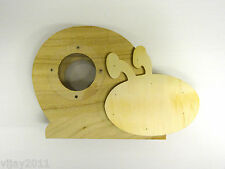 Wooden Money Box coin collections bank Snail shape , DIY Arts & Crafts decoupage