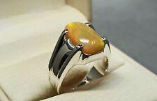 Natural Australian Opal Women Ring Sterling Silver 925 Handmade Fire Opal Ring