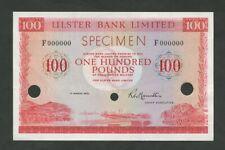 More details for northern ireland  £100 1973 specimen 00000 uncirculated world paper money