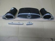 RENAULT CLIO MK3 PLASTIC DASHBOARD FIT  AIR VENTS SET SILVER FINISH FROM 2008