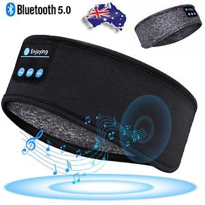 Wireless Sleep Headphones Bluetooth Headband Ultra-Soft Music for Side Running