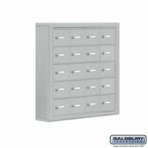 Cell Phone Storage Locker - 5 Door High Unit (5 Inch Deep Compartments) - 20 A D