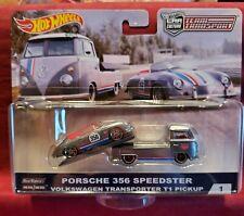 Hot Wheels Premium Porsche 356 Speedster & VW T1 Car Culture Team Transport NEW