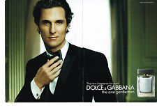PUBLICITE ADVERTISING 035  2010  DOLCE & GABBANA  parfum homme THE ONE ( 2p)