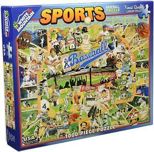 White Mountain Sports Baseball 1000 Piece Jigsaw Puzzle Ultimate Trivia MINT!