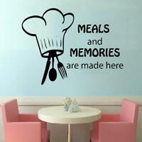 Meals And Memories Made Here Vinyl Wall Decal Sticker Kitchen Decor Decoration