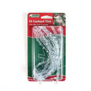 10 Pack   Christmas Garland Clear PVC Adjustable Ties   Xmas Lights Decoration