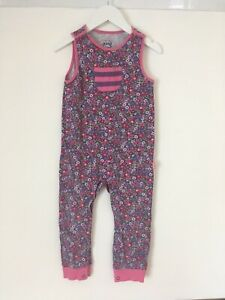 Kite Floral Romper Dungarees Age 2-3
