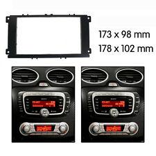 For Ford Focus Mondeo radio Double 2 Din fascia dash panel facia trim Black OZ