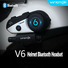 1Set BT Bluetooth V6 Motorcycle Helmet Interphone Intercom Headset for Cellphone