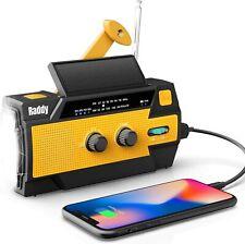 Raddy SW3 Kurbelradio Tragbares Solar Radio Dynamo LED Taschenlampe 4000mAh