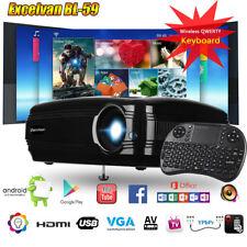 4K 1080P Android WIFI Projektor Bluetooth LED 3200Lumen 3D Heimkino Beamer 1+8GB