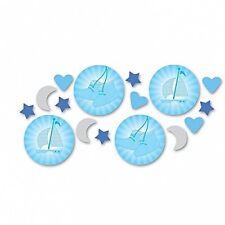 Confettis et cotillons de fête bleus pour la maison Baptême