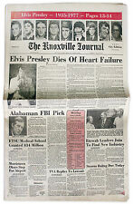 Elvis Presley Death Newspaper From Knoxville, Tennessee