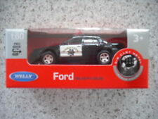 WELLY PULL BACK ANG GO 1:60 DIE CAST CAR FORD POLICE CAR