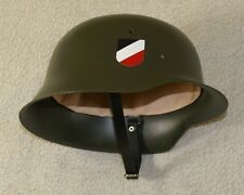 GERMAN HELMET M42 M 42 WERMACHT - FELDGRAU PAINTING MUST SEE IT !!