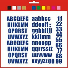 Sticky Numbers and Letters Full Alphabet stickers self adhesive various colours