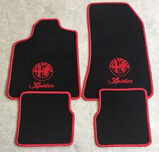 sw Velours Fußmatten Edition Logo für Alfa Romeo Spider 939 ab Bj.09//2006
