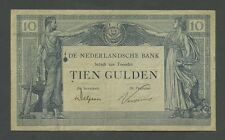 NETHERLANDS - 10 gulden  1921  P35  Good Fine  ( World Paper Money )