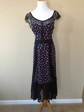 """NWT NANETTE LEPORE """"Buy Me Some Flowers"""" Floral Lace Dress, Size 12"""