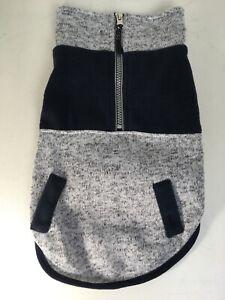 NEW Top Paw Gray Navy Zip Fleece Sweatshirt Hoodie - NWT - Medium M