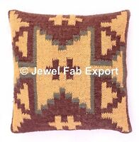 Indian Vintage Jute Rug Cushion Cover Handmade Home Decor Pillow Cover