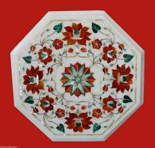 """12""""x12"""" Marble Coffee Table Top Pietra Dura Inlay Work Home Decora"""