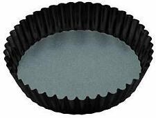 Master Class Durable Non Stick Extra Deep Fluted Tart Tin, Flan Dish, Loose Base