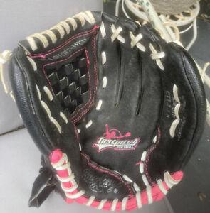 "Rawlings Fastpitch Softball Glove Mitt 11 1/2"" Pink & Black"