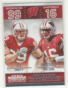 RUSSELL WILSON 2015 Panini Contenders Draft Picks Collegiate Connections #25
