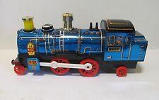 Vintage Continental Blue Locomotive Masudaya Toy Japan no. 4018 in box LQQK!!