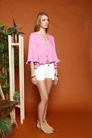 Chloe Oliver Womens Mia's Orchid Shirt Pink S New