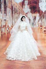 ืืืืืืืืืืNew Wedding  Dress Fashion Royalty Silkstone Barbie l VEIL LACE OOAK