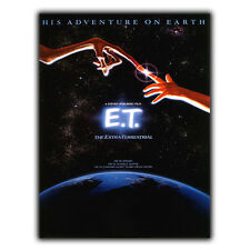ET Steven Spielberg Movie METAL SIGN WALL PLAQUE Film Advert Poster Print