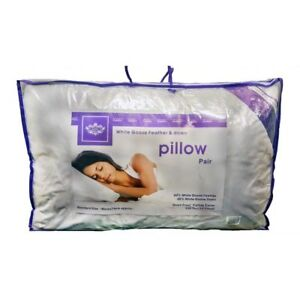 PILLOWS Goose Feather & Down PILLOWS(60% GOOSE & 40% Down)LUXURY HOTEL QUALITY