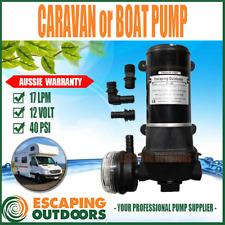 12V Caravan Water Pump or Boat Pump Quiet 12 volt 17 l/min 40 PSI Heavy Duty